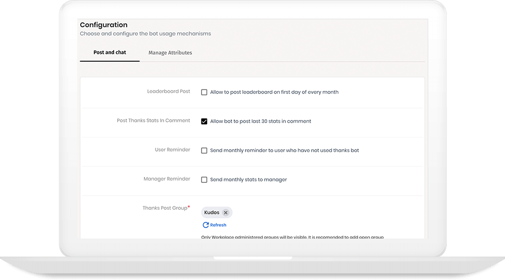 Notification and Visibility configurations
